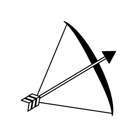 bow arrow equipment on white background vector illustration