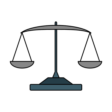 balance law scale on white background vector illustration