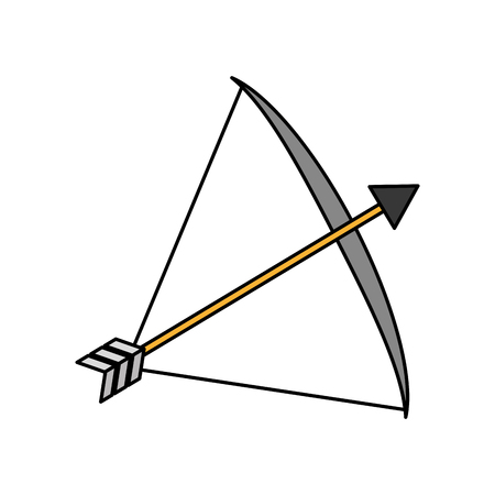 bow arrow equipment on white background vector illustration