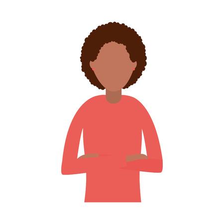 business woman portrait on white background vector illustration Illustration