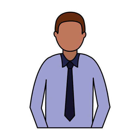 business man portrait on white background vector illustration