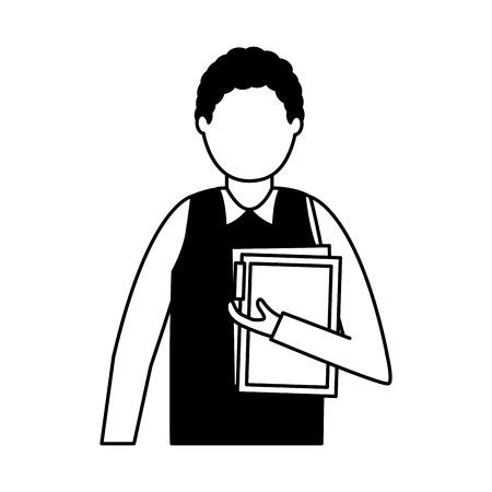 business man portrait on white background vector illustration