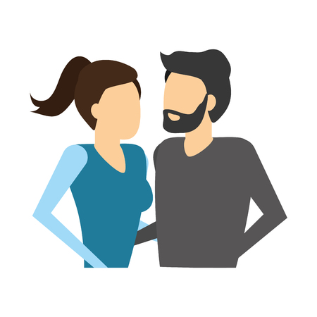 man and woman holding hands vector illustration Stock Vector - 125273268
