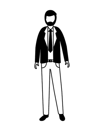 businessman male character on white background vector illustration Stock Vector - 116899385