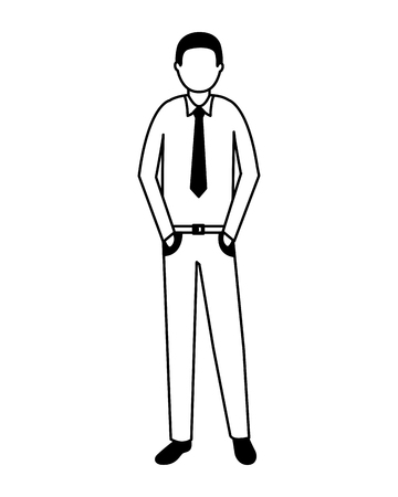 businessman male character on white background vector illustration