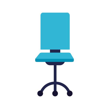 Muebles de silla de oficina sobre fondo blanco ilustración vectorial Ilustración de vector