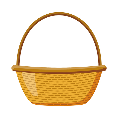 wicker basket picnic on white background vector illustration Zdjęcie Seryjne - 116899406