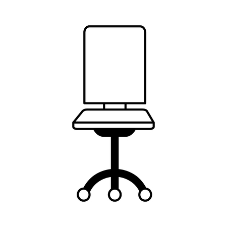 office chair furniture on white background vector illustration Imagens - 116899411