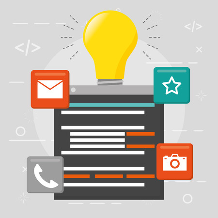 website development language data idea vector illustration