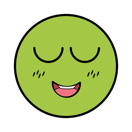 smiling emoticon facial expression vector illustration design
