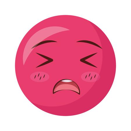 smiling emoticon facial expression vector illustration design Archivio Fotografico - 125257399