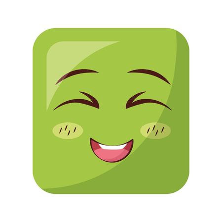 square emoticon face expression vector illustration design