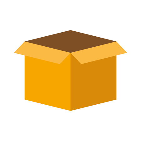 cardboard box storage on white background vector illustration