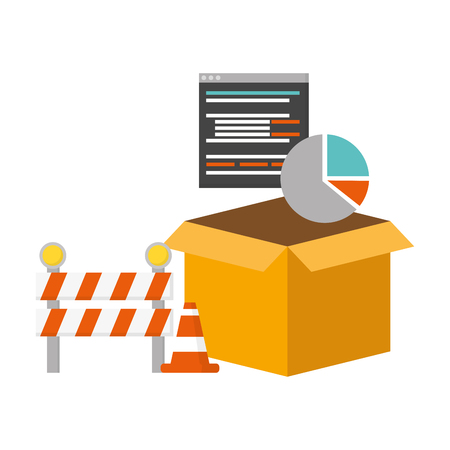 mobile app development box language barrier diagram vector illustration Vetores