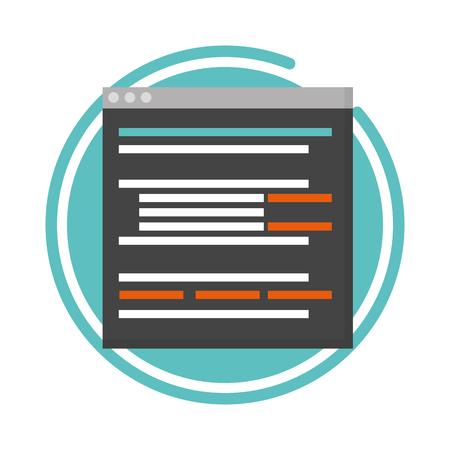 website development language data digital vector illustration