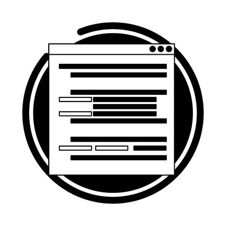 Website-Entwicklung Sprachdaten digitale Vektor-Illustration