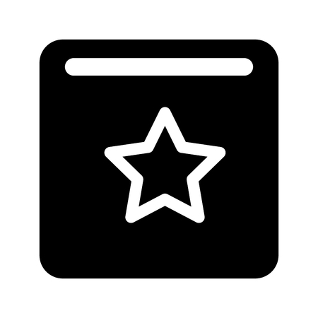 star favorite button social media vector illustration Ilustração
