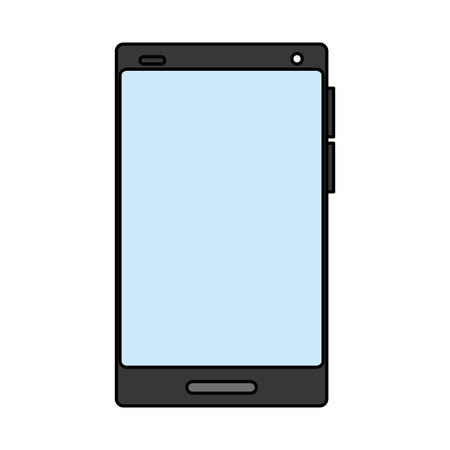 cellphone gadget technology on white background vector illustration