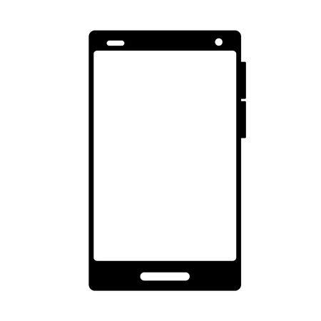 cellphone gadget technology on white background vector illustration Фото со стока - 125257668