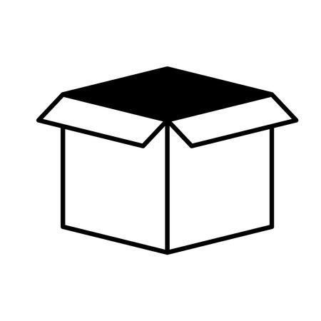 cardboard box storage on white background vector illustration