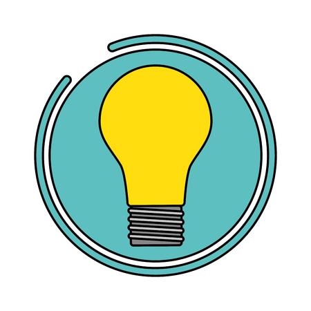 light bulb electricity label design vector illustration