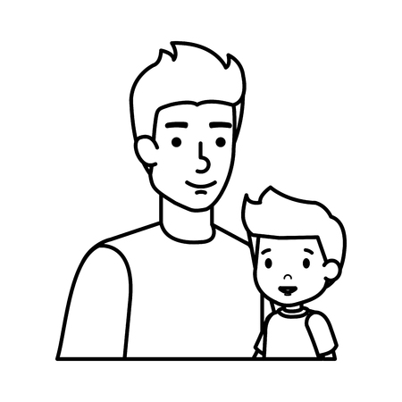 father with son characters vector illustration design Standard-Bild - 125257871