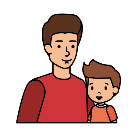 father with son characters vector illustration design 스톡 콘텐츠 - 117081583