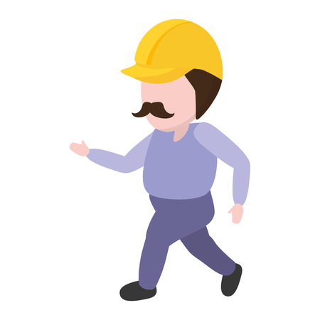 construction worker with helmet professional vector illustration