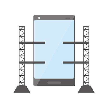 mobile app development smartphone platforms vector illustration Ilustração