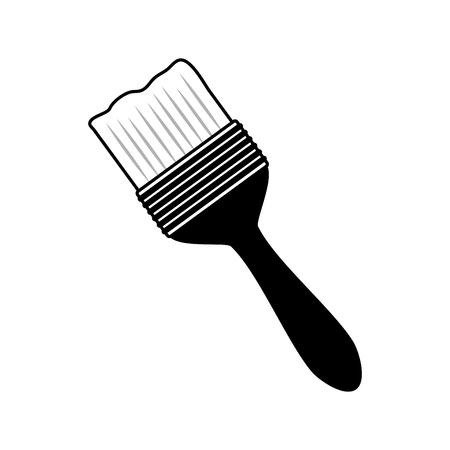 brush tool construction on white background vector illustration Stok Fotoğraf - 125213837