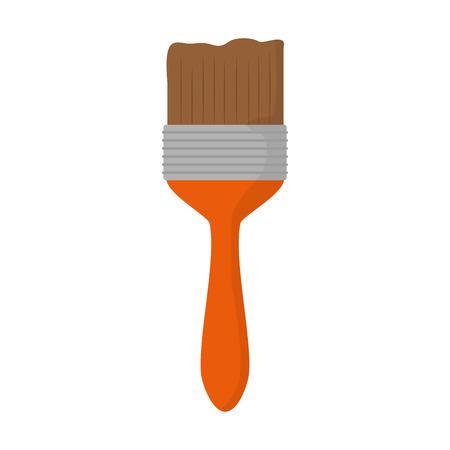 brush tool construction on white background vector illustration Banco de Imagens - 117046280