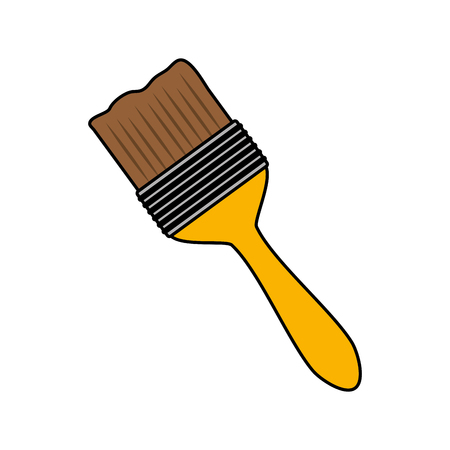 brush tool construction on white background vector illustration