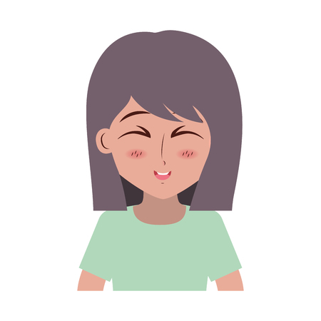 girl anime manga expression facial vector illustration