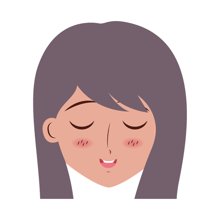 girl anime manga expression facial vector illustration Imagens - 117081593