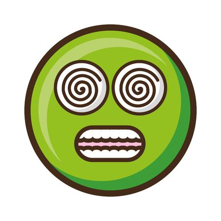 Smiley emoji expresión divertida ilustración vectorial cómica Ilustración de vector