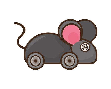 toy mouse prank april fools day vector illustration