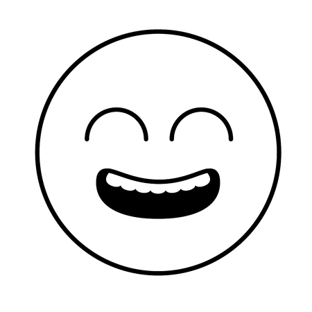 smiley emoji funny expression comic vector illustration