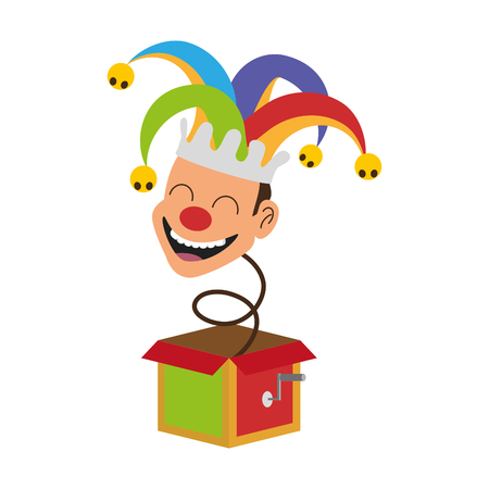 jack in the box april fools day vector illustration