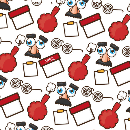 funny glasses cushion calendar background vector illustration Illustration