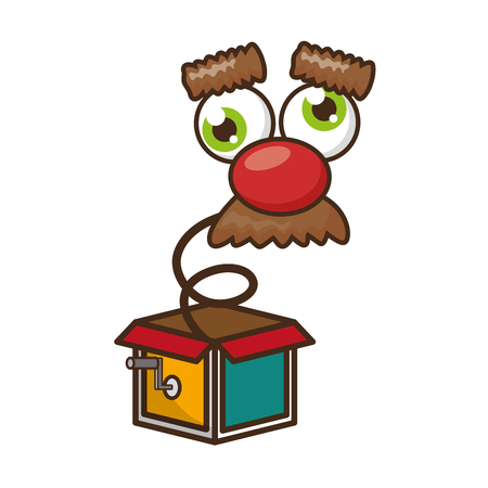 funny face in the box prank april fools day vector illustration Illustration