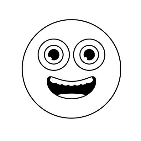 smiley emoji funny expression comic vector illustration Stock fotó - 117073243