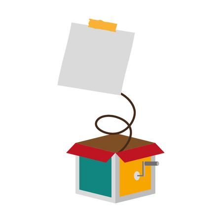 prank box note april fools day vector illustration