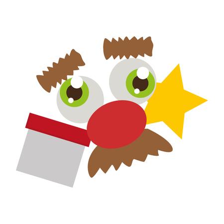 funny face calendar april fools day vector illustration