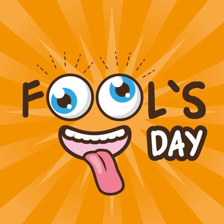 cheerful face april fools day vector illustration Illustration