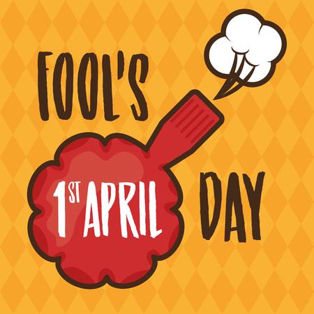 whoopee cushion joke card april fools day vector illustration Illustration