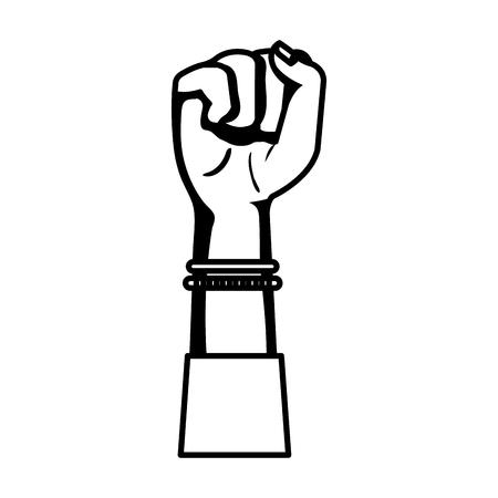 main dans le signal de combat icône isolé illustration vectorielle desing Vecteurs