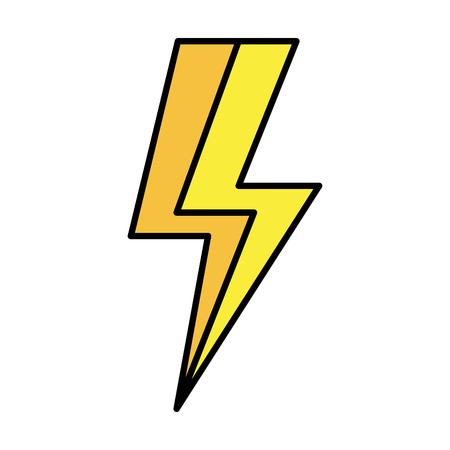 cute ray thunder icon vector illustration design Çizim