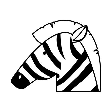 african zebra wild character vector illustration design Stockfoto - 125113401