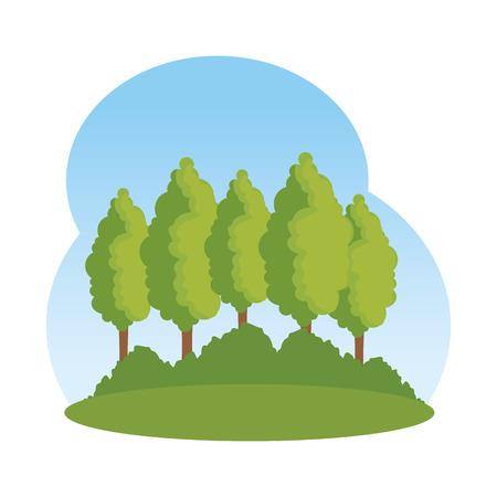landscape savannahh scene icon vector illustration design
