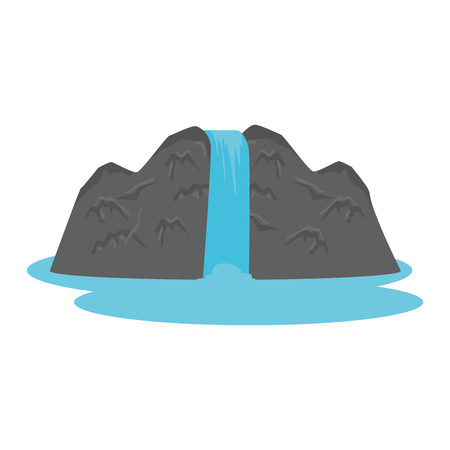 rock and waterfall scene vector illustration design Foto de archivo - 125113420